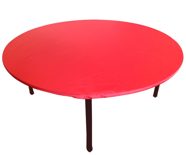 Elasticated Fitted Tablecloths to Protect your Table Tops : elasticated fitted table top protector round red from mudmates.co.nz size 600 x 500 png 43kB
