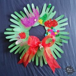 Handprint Christmas Wreath Craft for Kids