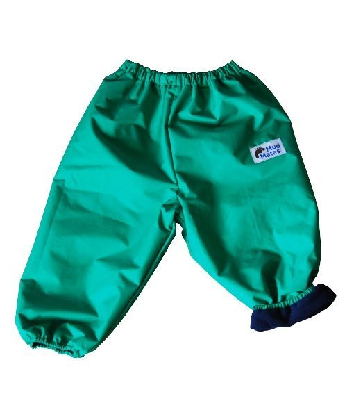 Green Fleece Lined Overpants