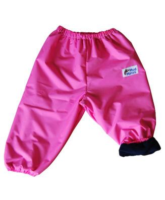 Pink with Navy Fleece Lined Overpants