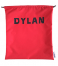 Red Personalised Drawstring Swim Bags