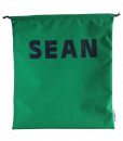 Green Personalised Drawstring Bags