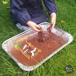 Edible Mud Sensory Play Material