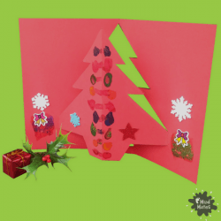 3D Pop Up Christmas Tree Cards