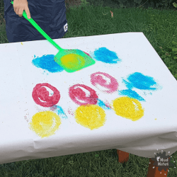 Fly Swat Painting - Messy Play for Kids